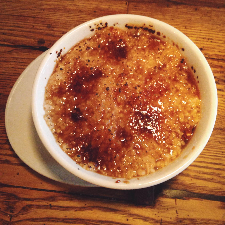 Crème brûlée oatmeal - Saffron and Honey