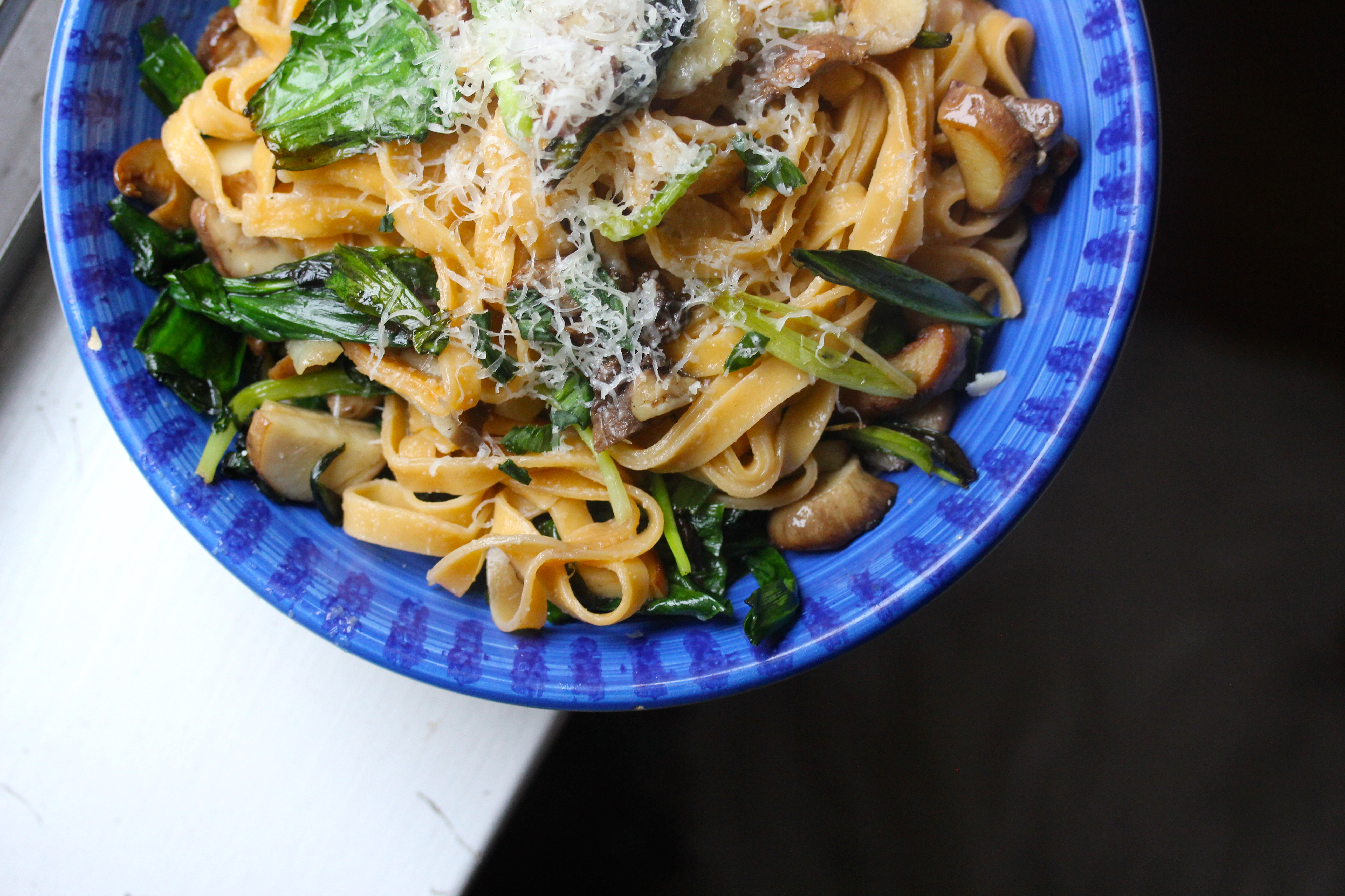spring pasta with ramps